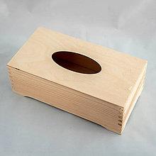 Polotovary - Krabička na vreckovky na nožičkách - 10685020_