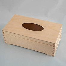 Polotovary - Krabička na vreckovky na nožičkách - 10685023_