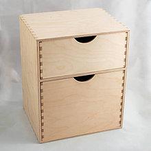 Polotovary - Skrinka s 2 zásuvkami - 10685030_