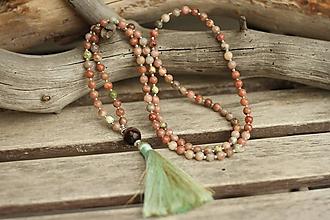 Náhrdelníky - Mala náhrdelník s minerálom jaspis a čaroit - 10683416_