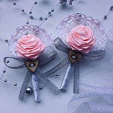 Pierka - Stredné svadobné pierka Romance - 10685533_