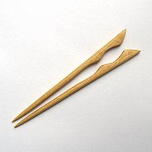 Ozdoby do vlasov - Drevené ihlice do vlasov - jaseňové - 10685706_