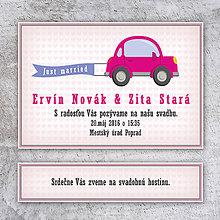 Papiernictvo - Svadobné oznámenie auto bez okrajov - 10685307_