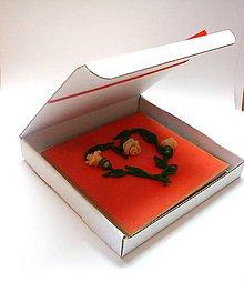 Papiernictvo - Ruže svadobné I ... (pohľadnica s krabičkou) - 10688095_