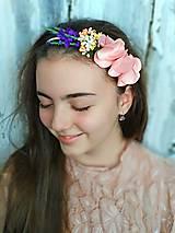 Ozdoby do vlasov - Čelenka- záhrada rose - 10689371_