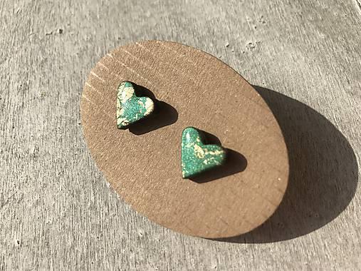 a55f804b19fae Zeleno - zlaté mini srdiečka / RencaDizajn - SAShE.sk - Handmade ...
