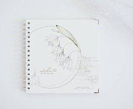 Papiernictvo - Svadobná kniha hostí/album - bleduľa 20x20 - 10689062_
