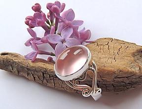 Prstene - Ruženín filigránový - 10689081_