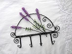 Nábytok - z levanduľových polí...vešiak (4 háčiky) - 10690056_