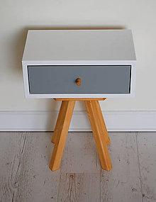 Nábytok - Retro nočný stolík /akcia/ - 10689740_