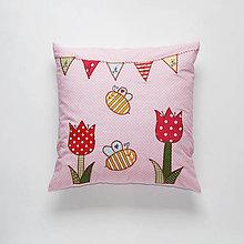 Textil - Detský bavlnený vankúšik (Včelička je Bee) - 10689095_