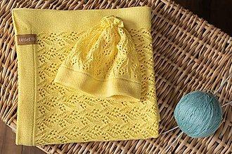 """Detské čiapky - Pletená čiapočka, """"Miss"""",OEKO-TEX®, žltá - 10689026_"""