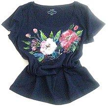 Tričká - Modré tričko - 10688119_