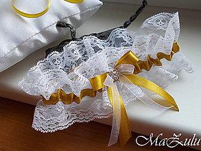 Bielizeň/Plavky - nežný svadobný podväzok XII. - 10688794_