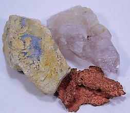 Minerály - Meď,Opál a krištáľ - 10687222_
