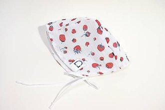 Detské čiapky - Akvarelový čepček - Jahody - 10687135_