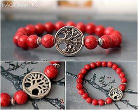 Náramky - Náramok Jadeit a strom života - 10689670_