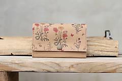 Peňaženky - Snappap peňaženka kvety - 10688455_