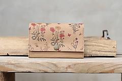 Peňaženky - Snappap peňaženka kvety - 10688458_