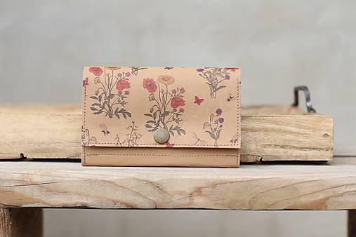 Snappap peňaženka kvety