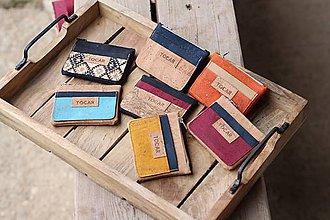 Peňaženky - Korková mini peňaženka - 10688413_