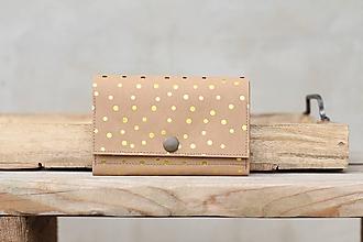 Peňaženky - Snappap peňaženka zlaté bodky - 10688457_
