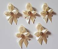pierka krémovo-zlaté (svadobné pierko pre hostí krémovo-zlaté)