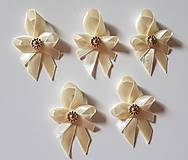 Pierka - pierka krémovo-zlaté (svadobné pierko pre hostí krémovo-zlaté) - 10686705_