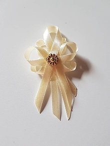 Pierka - pierka krémovo-zlaté (svadobné pierko pre rodičov, svedkov, starejšieho) - 10686710_