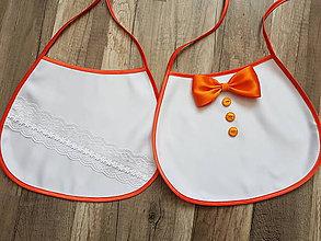 Iné doplnky - Svadobné podbradníky klasik (oranžové) - 10687194_