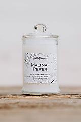Sviečka zo sójového vosku v skle - Malina & Peper