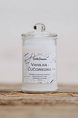 Sviečka zo sójového vosku v skle - Vanilka & Čučoriedka