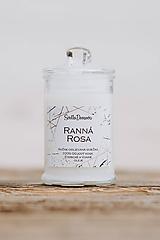 Sviečka zo sójového vosku v skle - Ranná Rosa