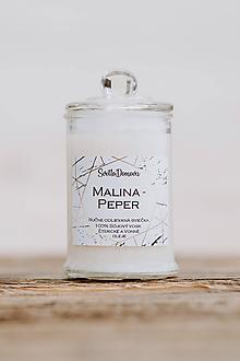 Svietidlá a sviečky - Sviečka zo sójového vosku v skle - Malina & Peper - 10687025_