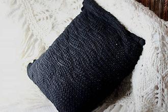 Úžitkový textil - Ručne tkaná obliečka na vankúš, merino vlna - 10688203_
