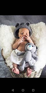 Detské čiapky - čiapka s uškami - 10690057_
