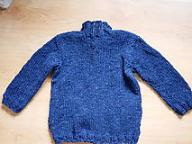 Detské oblečenie - chlapčenský svetrík jednoduchoklasický - 10688901_