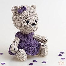 """Hračky - medvieďa """"Fialka"""" - 10688366_"""