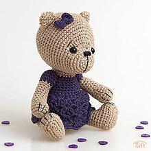 """Hračky - medvieďa """"Violka"""" - 10688381_"""