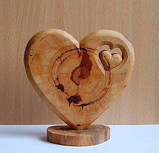 Dekorácie - Dekorácia z dreva - Slivkové srdce 1 - 10689171_
