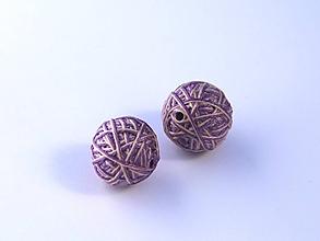 Materiál ručne robený - Korálky pár klbiek 33 - 10686854_