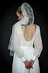 Šaty - Svadobné šaty z umelého hodvábu vo vintage štýle - 10686761_