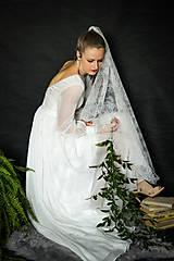 Šaty - Svadobné šaty z umelého hodvábu vo vintage štýle - 10686762_