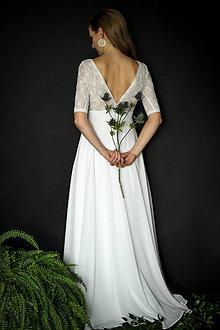 Šaty - Svadobné šaty s holým chrbátom v boho štýle - 10686753_