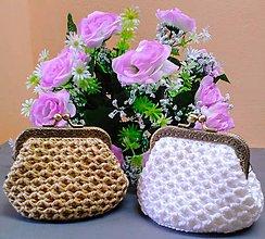 Peňaženky - Háčkované  peňaženky-taštičky - 10689803_