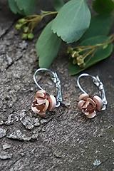 Náušnice - Náušnice ružičky - 10689680_