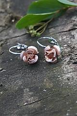 Náušnice - Náušnice ružičky - 10689688_