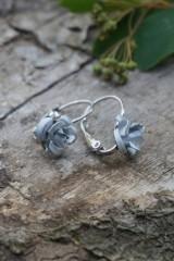 Náušnice - Náušnice ružičky - 10689699_