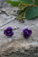 Náušnice - Náušnice ružičky - 10689715_