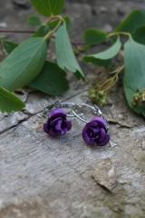 Náušnice - Náušnice ružičky - 10689719_